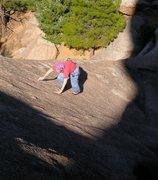 Rock Climbing Photo: Sallie Greenwood on pitch 1.