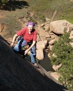 Rock Climbing Photo: Sallie enjoying the pitch.