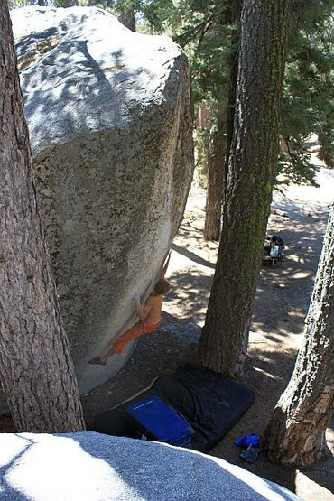 Rock Climbing Photo: Buzzsaw (V10), Black Mountain