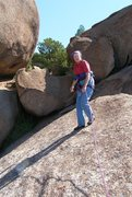 Rock Climbing Photo: On top! We scrambled over the boulder in back and ...