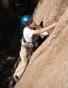 Rock Climbing Photo: My son Tristan leading Bloody Englishman.