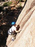 Rock Climbing Photo: Tristan jamming both cracks.