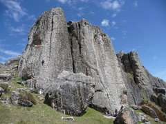 Rock Climbing Photo: Intro to Hatun Machay- La Placa Verde