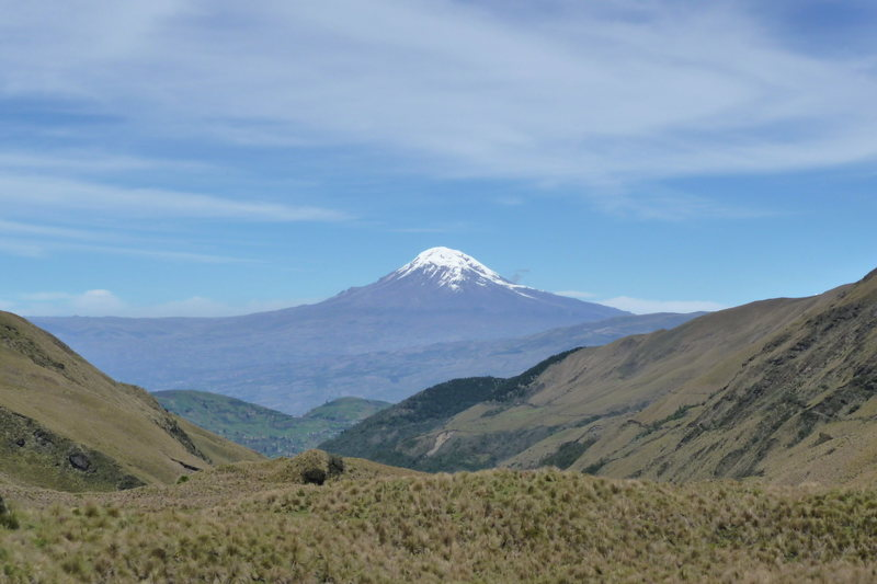 Chimborazo from trail below El Altar
