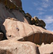 Rock Climbing Photo: Tristan climbing on the Clam Shell.