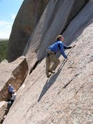 Rock Climbing Photo: Looking for the next friction holds.