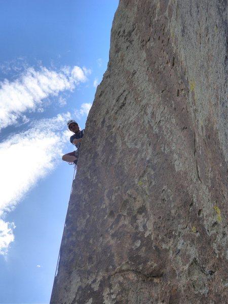 Rock Climbing Photo: On the sharp arete of pitch 2
