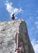 Rock Climbing Photo: Belaying on top