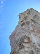 Rock Climbing Photo: Starting the rapell