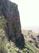 Rock Climbing Photo: My attempt at a decent topo while bored at work.  ...