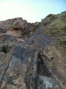 Rock Climbing Photo: View from the base.  If you zoom in you can see a ...