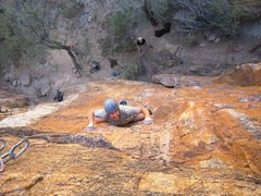 Rock Climbing Photo: EMk battles for it.