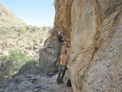 Rock Climbing Photo: Jimbo on FA.
