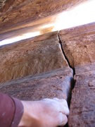 Rock Climbing Photo: look a splitter ? behind a pillar.