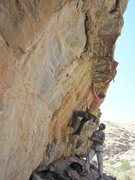 Rock Climbing Photo: Good look at the actual angle.  I have to deadpoin...