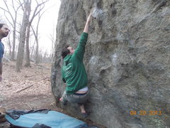 Rock Climbing Photo: Sweeney making moves on Static Heart