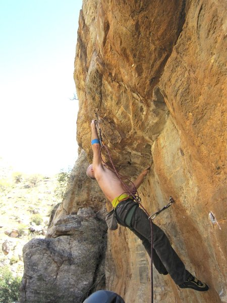 Rock Climbing Photo: Fully extended.