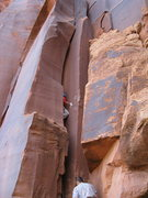 Rock Climbing Photo: moving in for the fight , no gear yet a lil run ou...