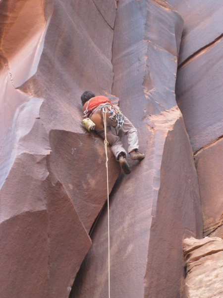 Rock Climbing Photo: super pumped had to lay back this move.