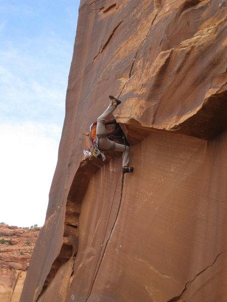 Rock Climbing Photo: LETS KICK IT!