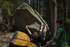 Rock Climbing Photo: Setting up for the first bump. Super fun and burly...