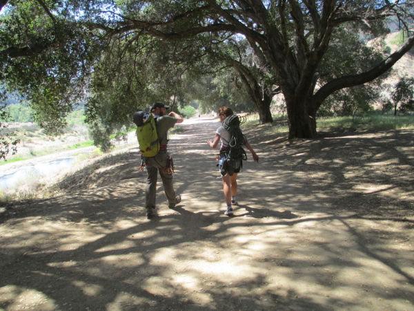 Hiking in to Malibu Creek with Cori