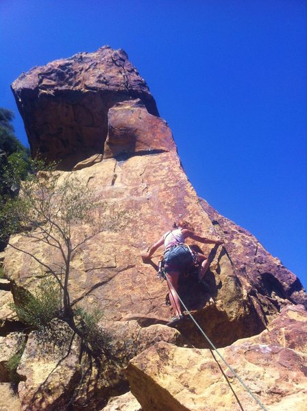 Rock Climbing Photo: Seven Steps to Heaven in Ojai, Ca. I'm on the last...
