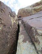 Rock Climbing Photo: Heading up pitch 3