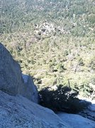 Rock Climbing Photo: Looking down from p3