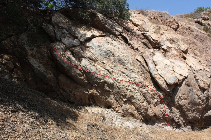Rock Climbing Photo: This is a traverse i am working on. the start is p...