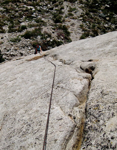 Looking down the upper cracks.