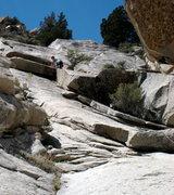 Rock Climbing Photo: High up on pitch 2.