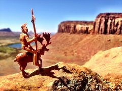 Rock Climbing Photo: Hi, I'm Chief Riding Moose and I approve this sque...