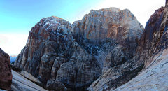 Rock Climbing Photo: South side of Juniper Canyon in the winter. And th...