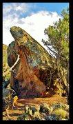 Rock Climbing Photo: Tobacco War problem beta.
