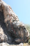 Rock Climbing Photo: This is a fun inverted climb with two routes going...