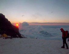 Rock Climbing Photo: Mt. Rainier sunrise
