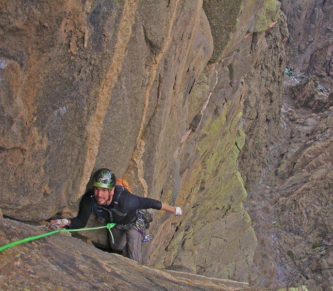 Rock Climbing Photo: Erik Wellborn on the last pitch which was quite ex...