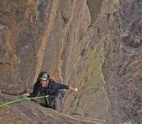 Rock Climbing Photo: Erik Wellborn on the last pitch which was quite ex...