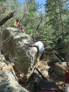 Rock Climbing Photo: Mitch is pulling into the cruxy top out of Ralph M...