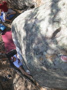 Rock Climbing Photo: Mitch starting up the great slopers on Ralph Macch...