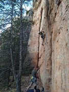 "Rock Climbing Photo: Eric Jochens ""Chewie"" climbing through t..."