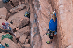 Rock Climbing Photo: Don't try this at home kids. The reverse stance cl...