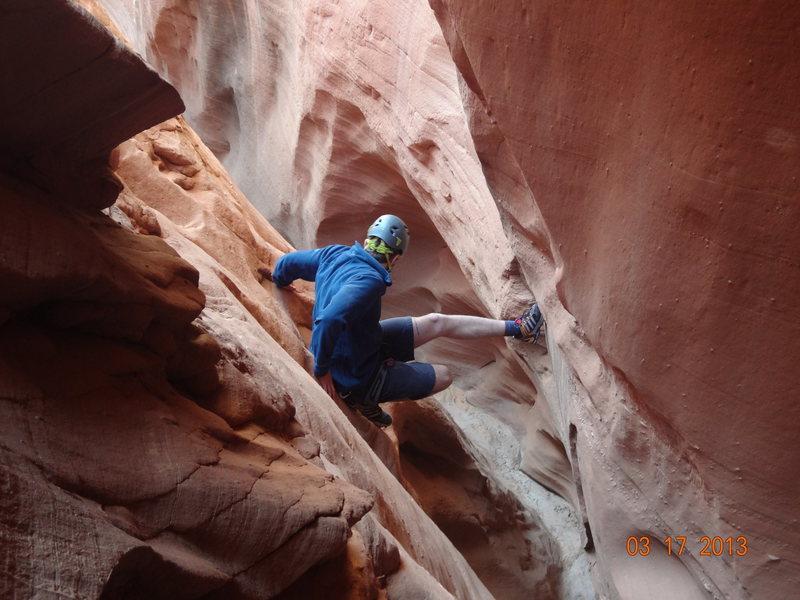 Canyoneering at Bull Pasture canyon