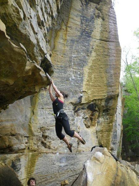 Rock Climbing Photo: Short person beta