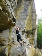 Rock Climbing Photo: Short person beta