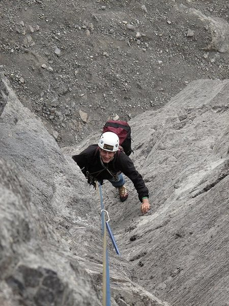 Rock Climbing Photo: 2nding one of the lower pitches on Direttissima.