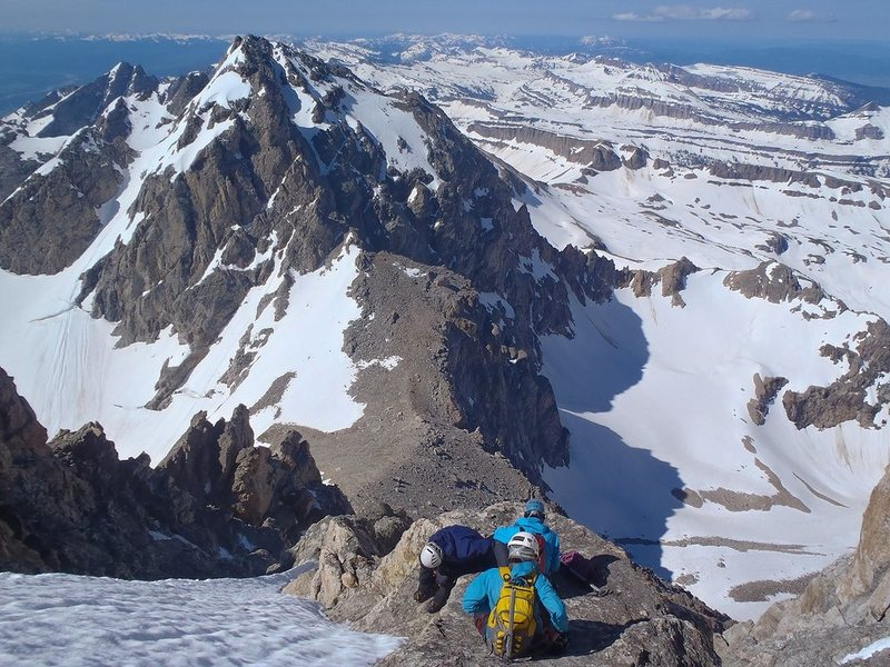 Rock Climbing Photo: Taking a quick break to put on the crampons on the...