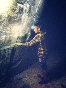 Rock Climbing Photo: Night time beta monster