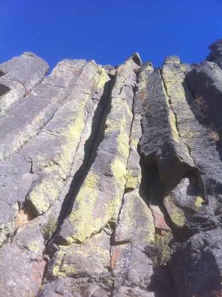 Rock Climbing Photo: Chasing Amy is the prominent pillar face in the ce...